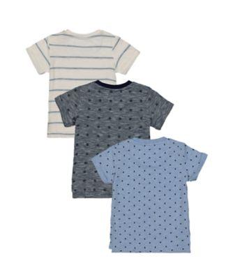 blue printed t-shirts - 3 pack