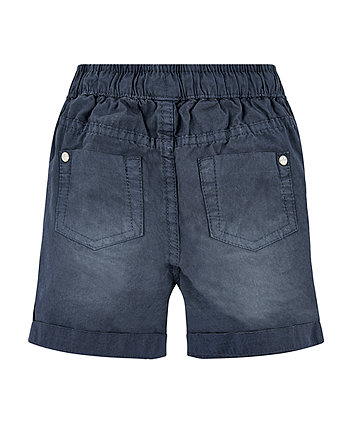 navy washed shorts