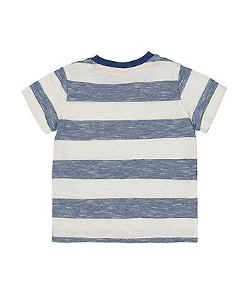 blue striped pocket t-shirt