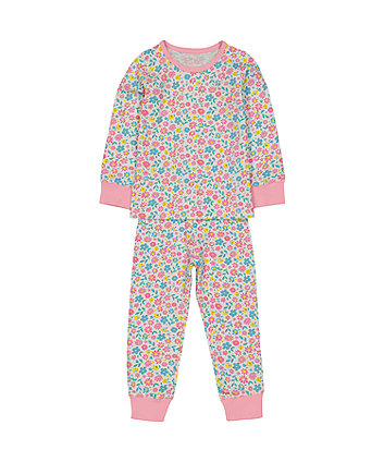 9f928bdcc68a5a pink flower pyjamas