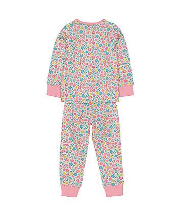 pink flower pyjamas