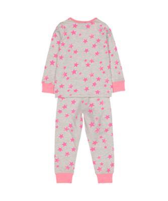 pink neon star pyjamas