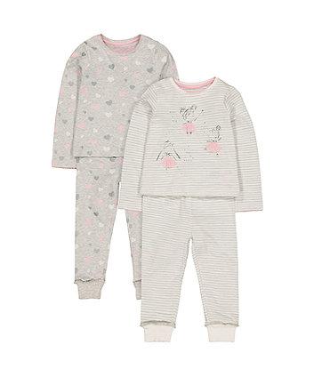 ballerina pyjamas - 2 pack