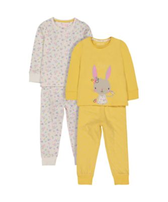 bunny and floral pyjamas – 2 pack