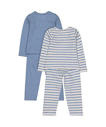 stripe and spot pyjamas - 2 pack