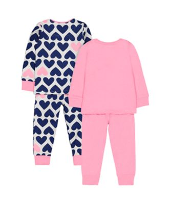 pink heart pyjamas - 2 pack