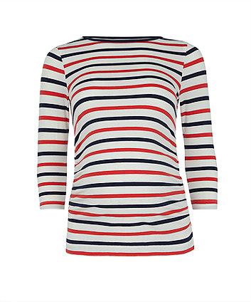 multi-stripe maternity t-shirt