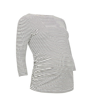 black and white striped maternity t-shirt