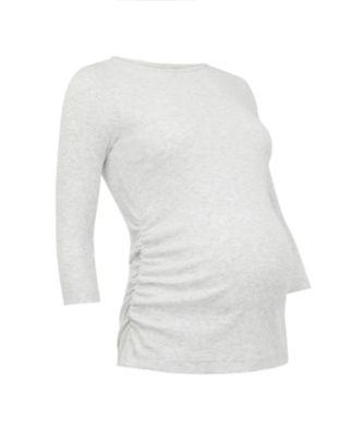 grey ribbed maternity t-shirt