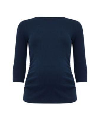 navy ribbed maternity t-shirt