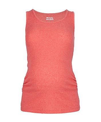 red marl maternity vest