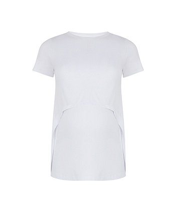 white double-layer nursing top