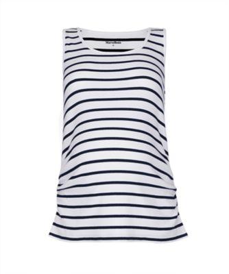 striped maternity vest