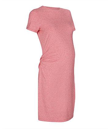 red maternity dress