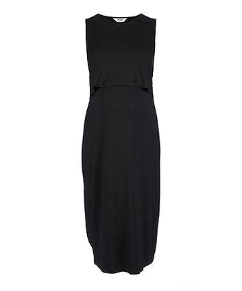 cff5982d6258e black nursing midi dress