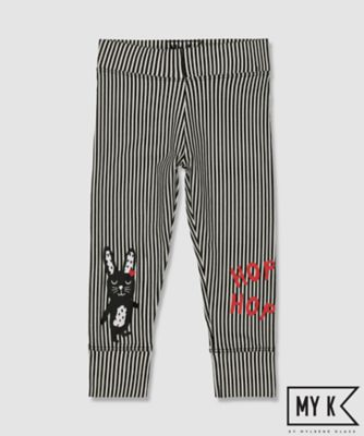 my k striped bunny leggings