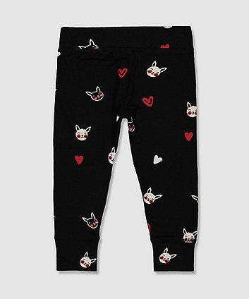 my k black bunny leggings