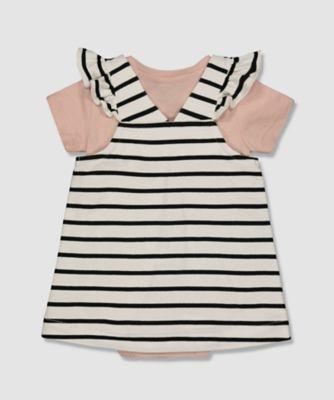 my k bunny pinny dress and bodysuit set