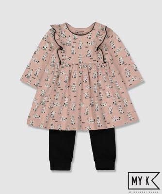 my k bunny dress and leggings set