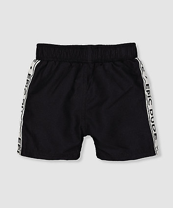 my k epic dude black swim shorts
