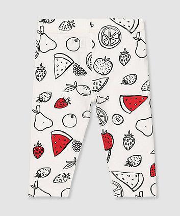my k white fruit leggings