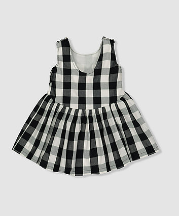 my k black and white gingham dress