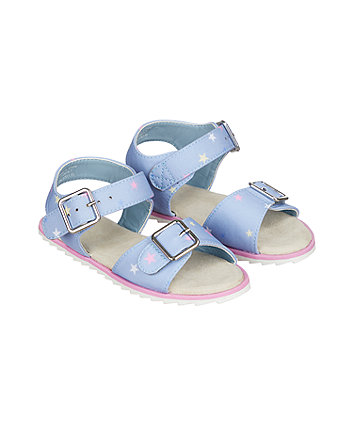 denim star tread sandals