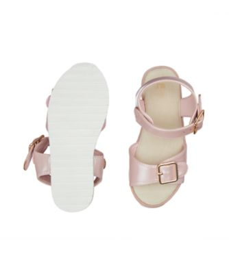 pink shimmer tread sandal