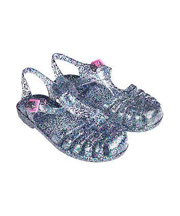 glitter jelly sandals