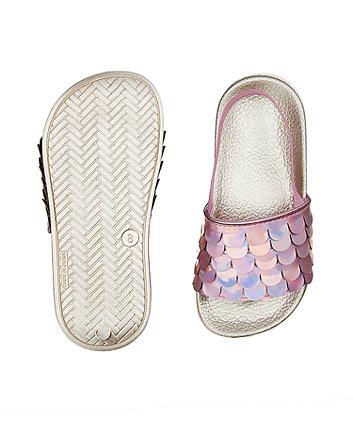 pink slider flip flops