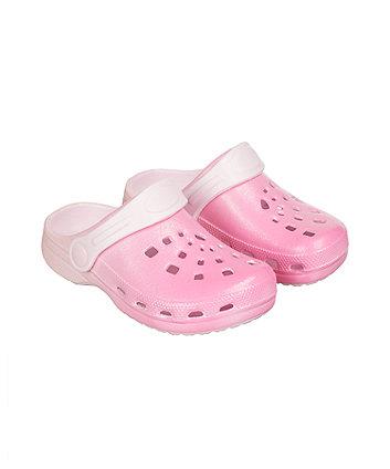 pink glitter clog