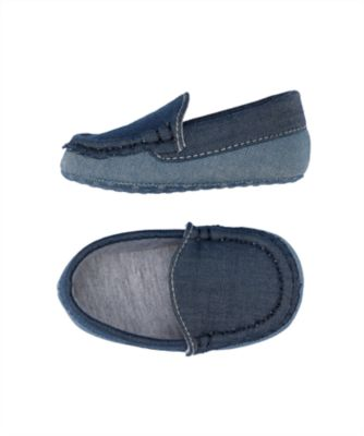 chambray baby loafers