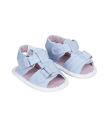 blue baby sandals