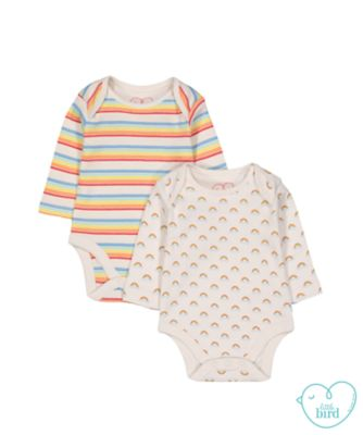 little bird rainbow bodysuits - 2 pack