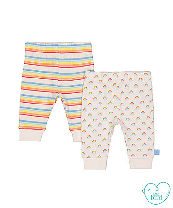 little bird rainbow leggings - 2 pack