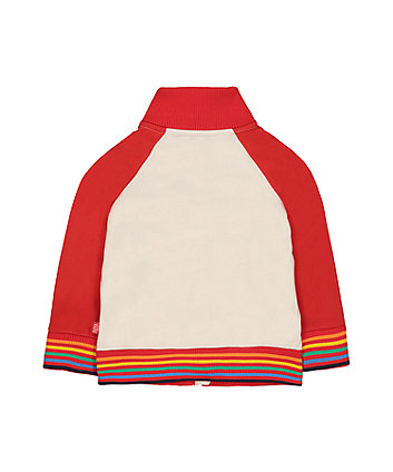 little bird red rainbow zipped jacket
