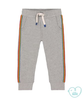 little bird grey rainbow joggers