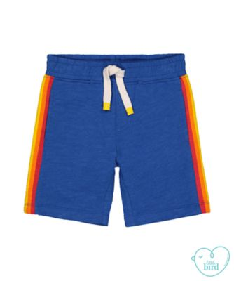 little bird blue rainbow shorts