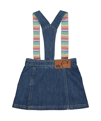 little bird denim pinny dress