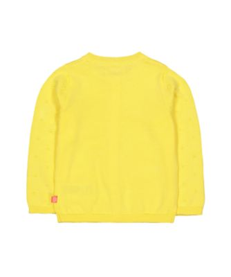 little bird yellow rainbow cardigan