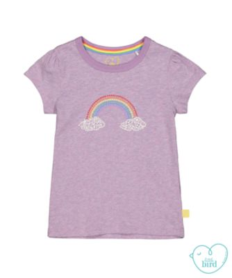 little bird rainbow t-shirt