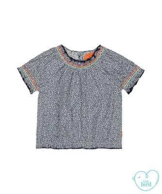 little bird floral smock blouse