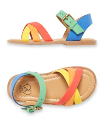 little bird rainbow sandals