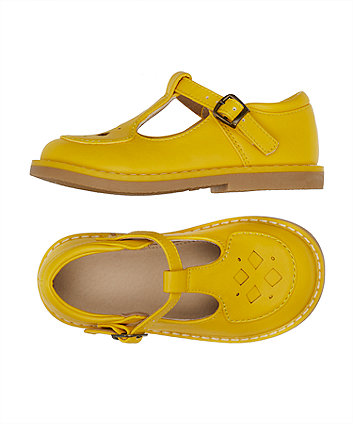 little bird yellow t-bar shoes