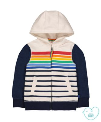 little bird striped hoodie
