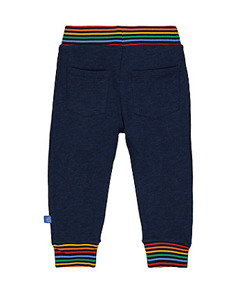 little bird navy rainbow joggers