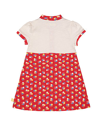 little bird red floral shirt dress