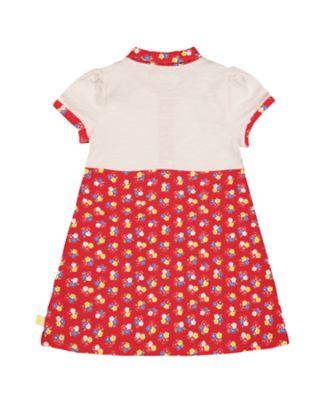 little bird red floral shirt dress