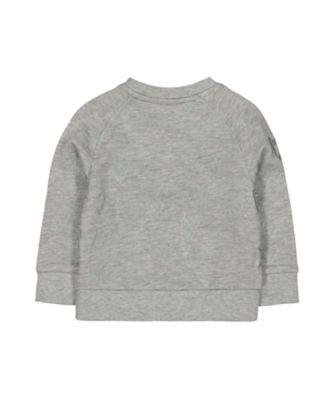 grey heart sweat top