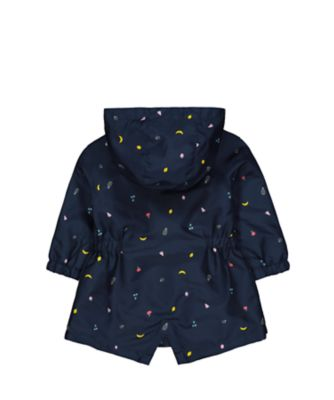navy fruit fleece-lined mac